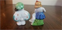 Hand Painted Oriental Figurines Marked Japan