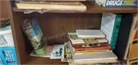 Bookshelf W/ Contents  pressboard