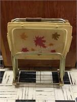 Set of 4 Vintage Fiberglass  TV Trays