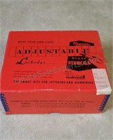 Vintage Reeses Adjustable Brass Stencils