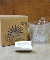 Vintage Highlights In Lead Crystal Ice Bucket