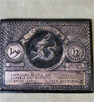 Capricorn Plaque (Small Chip on Upper Corner)