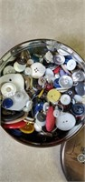 Small Tin Of Buttons
