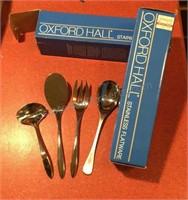 2-4pc Sets Oxford Hall Stainless Serving Ware