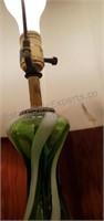 Mid Century Glass Lamp