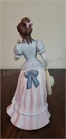 Homco Girl with Glowers Figurines