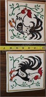 Plaster Rooster Wall Decor