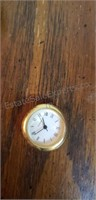Heavy Gold-tone Golf Ball Clock