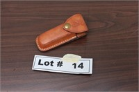 POCKET KNIFE WITH LEATHER CASE