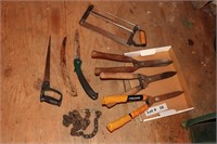 GARDEN SHEARS, HAND SAWS AND HACK SAWS
