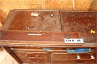 VINTAGE DRESSER WITH TOOLS AND CONTENTS  PICTURED