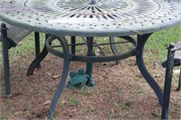 PATIO WROTH IRON TABLE AND CHAIRS