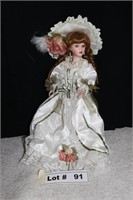 PORCELAIN DOLL APPROX 15""