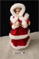 CHRISTMAN PORCELAIN DOLL - BATTERY OPERATED, NO BA