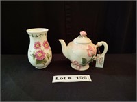 COLLECTIBLE TEA POT AND VASE
