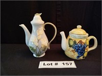 QTY 2 COLLECTIBLE TEA POTS