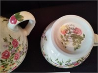 COLLECTIBLE TEA POT AND CUP