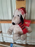 LARGE STUFFED HOLLIDAY SNOOPY