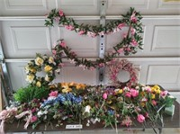 SPRING FLORAL SUPPLIES WREATHS AND GARLAND