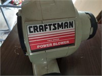 CRAFTSMAN ELECTRIC BLOWER WITH ATTACHMENTS - WORKS