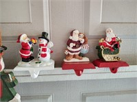 CHRISTMAS STOCKING HOLDERS (METAL) AND WALL DÉCOR