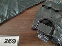 LEATHER MOTORCYCLE RIDING ITEMS, INSULATED GLOVES