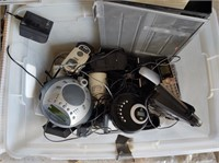 ASSORTED WIRE, ELECTRONICS  - TOTE NOT INCLUDED