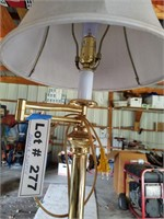 STANDING LAMP WITH EXTRA SHADE - NEEDS A NEW SWITC