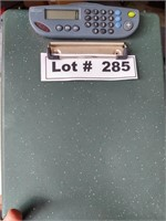 CLIPBOARD CASE WITH SOLAR CALCULATOR - WORKS