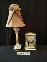 DESK LAMP AND CLOCK - WORKS