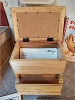RECIPE CARD BOX, CARDS, CARD HOLDER, AND COOK BOOK
