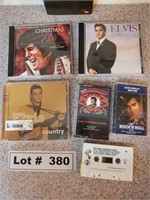ELVIS CD'S, CASSETTES, AND VHS MOVIE
