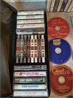 ASSORT CASSETTS WITH CASE AND CD'S