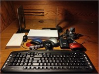 CORDLESS KEYBOARD& MICE, CAMERA, ENVELOPES CARDS A