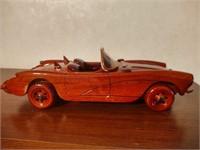 CARVED WOODEN CAR