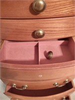WOODEN JEWELRY BOX  ONE DRAWER PULL NEEDS REPLACIN