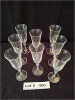8 CRYSTAL CHAMPAIGN GLASSES