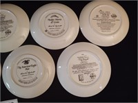 7 DECORATIVE PLATES SIGNED AND NUMBERED