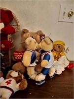 ASSORTED STUFFED BEARS - KISSING BEARS
