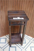 WOOD AND METAL SIDE TABLE/LAMP STAND