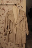LADIES TRENCH COAT WITH SCARF,  HEAVY JACKET