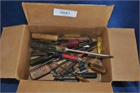 Misc Box of Screw Drivers, Chisels