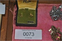 Pair 14kt Gold Childs Heart Earrings