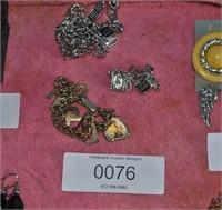 2 Charm Bracelets pair phone earrings