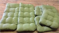 Six outdoor furniture cushions