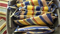 Lot of eight chair cushions