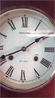 31 day wind up wall clock
