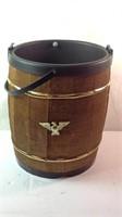 14 inch wood barrel with plastic insert