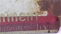 Vintage 28 x 20 metal refreshment sign