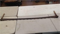 Antique 63 inch two-man cross Saw
